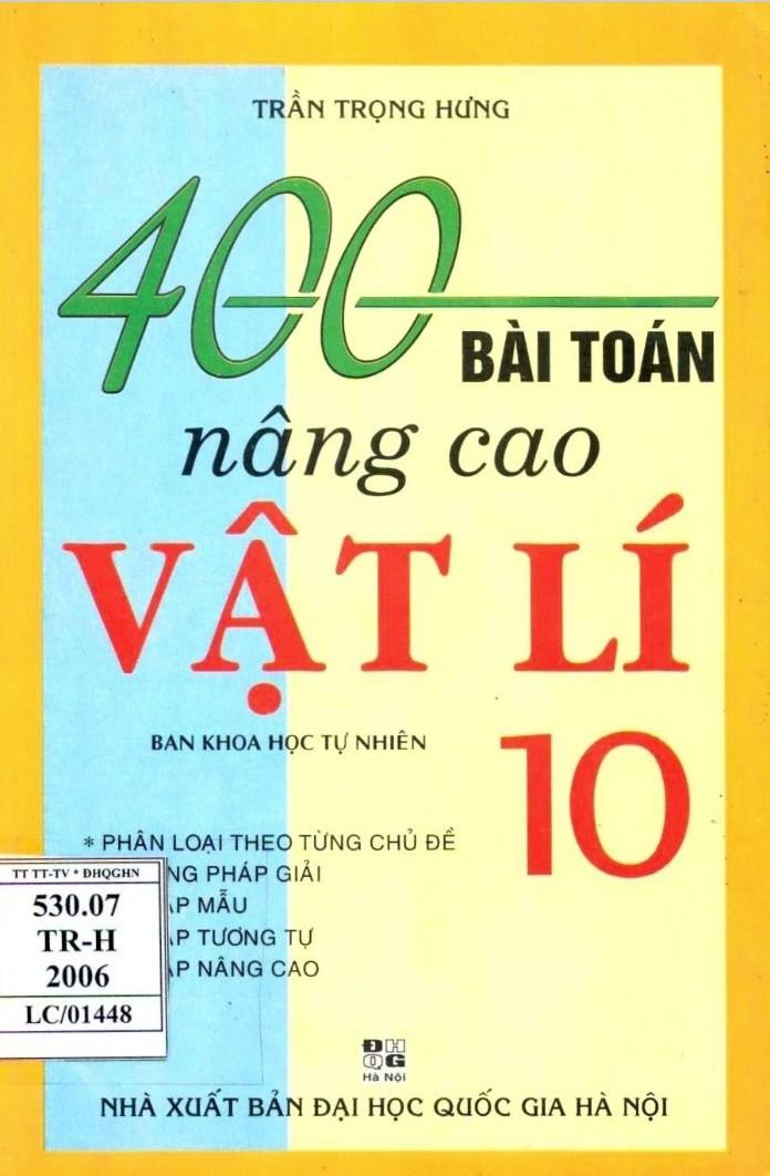 400 Bài Toán Nâng Cao Vật Lý 10
